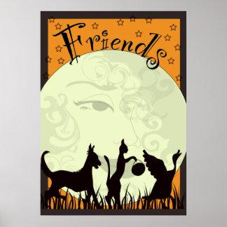 three-friends- print