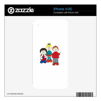 Three Friends Skins For The iPhone 4