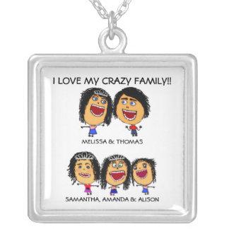 Three Funny Daughters Cartoon Necklace