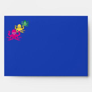 Three funny octopies envelope