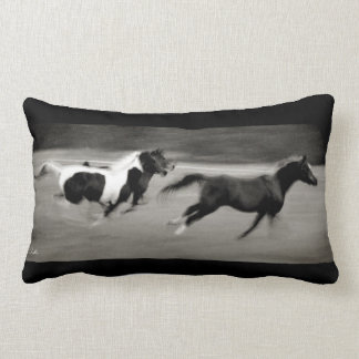 Three Galloping Horses Lumbar Pillow