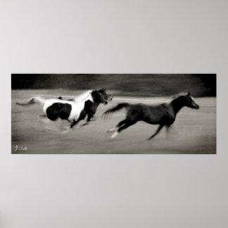 Three Galloping Horses Poster