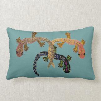 Three Geckos Lumbar Pillow