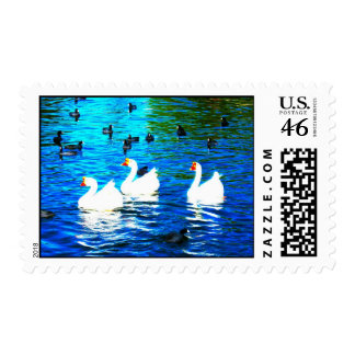 Three Geese Postage Stamp