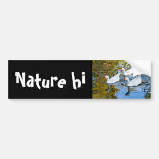 three geese swimming bumper sticker