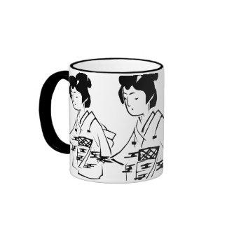 Three Geisha Ringer Mug