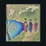"Three Geishas By the Water Japanese Woodblock Art Notepad<br><div class=""desc"">Three geishas stroll by the water&#39;s edge.  This is a reproduction of a traditional Japanese art form,  woodblock or ukiyo-e.</div>"
