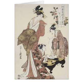 Three Geishas Card