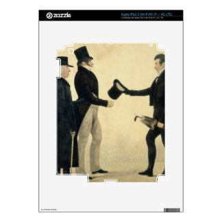 Three Gentlemen Greeting Each Other (w/c and ink w Skin For iPad 3