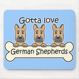 Three German Shepherds Mouse Pad