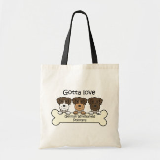 Three German Wirehaired Pointers Tote Bag