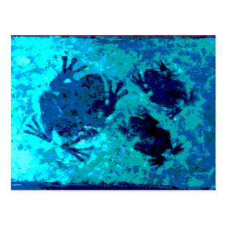 Three Ghost Frogs Postcard