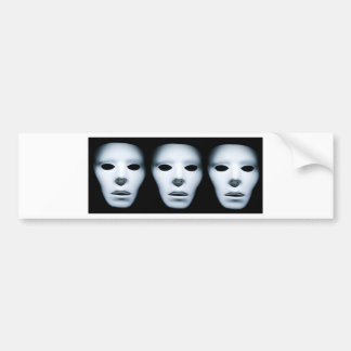 Three Ghostly Faces in the Dark.jpg Bumper Sticker