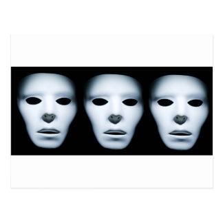 Three Ghostly Faces in the Dark.jpg Postcard