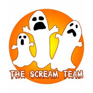 Three Ghosts The Scream Team Halloween Tee shirt