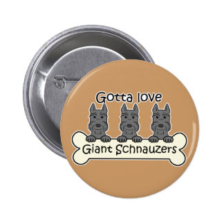 Three Giant Schnauzers Buttons