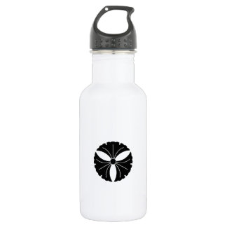 Three ginkgo leaves stainless steel water bottle