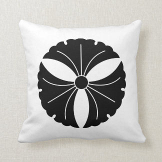 Three ginkgo leaves throw pillow