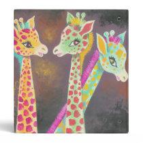 Three Giraffes 3 Ring Binder