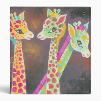 Three Giraffes 3 Ring Binder