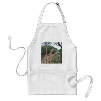 three giraffes apron