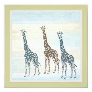 Three Giraffes Card