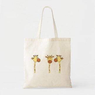 Three Giraffes Cartoon. Tote Bag