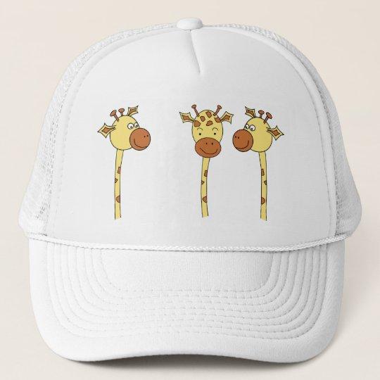 Three Giraffes Cartoon. Trucker Hat