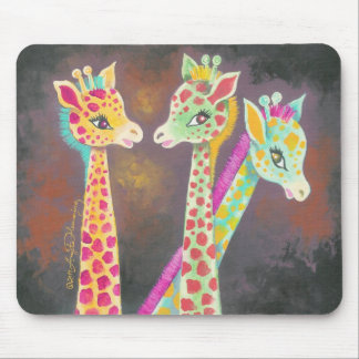 Three Giraffes Mouse Pad