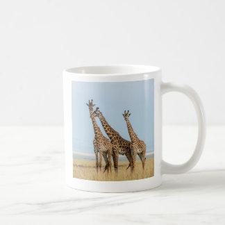 Three Giraffes Posing Coffee Mug