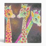 Three Giraffes Vinyl Binder