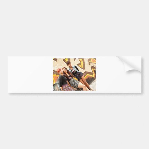 Three GIrls & A Mic Bumper Sticker