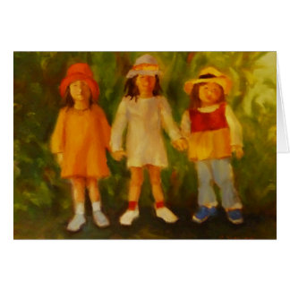 Three Girls - Childhood Friends Forever Card