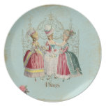 Three Girls in Marie's Court Party Plate