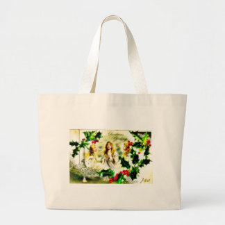 three girls looking at the sky tote bag