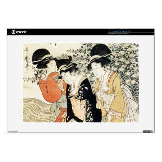 "Three girls paddling in a river, from the 'Fashion 15"" Laptop Skins"
