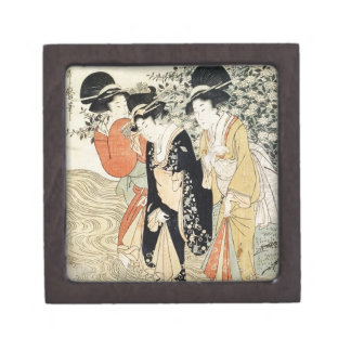Three girls paddling in a river, from the 'Fashion Gift Box