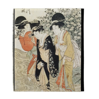 Three girls paddling in a river, from the 'Fashion iPad Cases