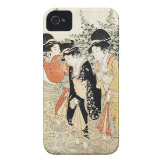 Three girls paddling in a river, from the 'Fashion iPhone 4 Case-Mate Case
