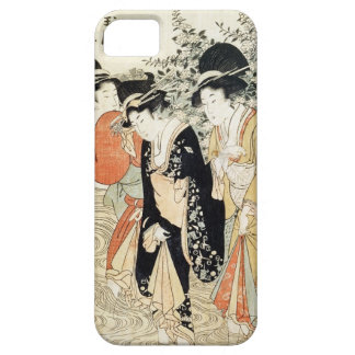 Three girls paddling in a river, from the 'Fashion iPhone SE/5/5s Case