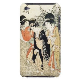 Three girls paddling in a river, from the 'Fashion iPod Touch Cover