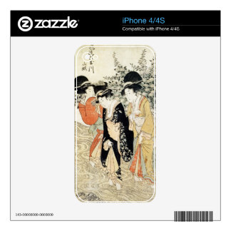 Three girls paddling in a river, from the 'Fashion iPhone 4S Decal