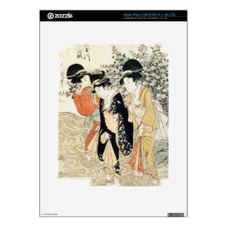 Three girls paddling in a river, from the 'Fashion Skin For iPad 3
