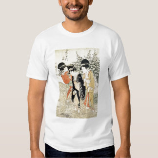 Three girls paddling in a river, from the 'Fashion T Shirt
