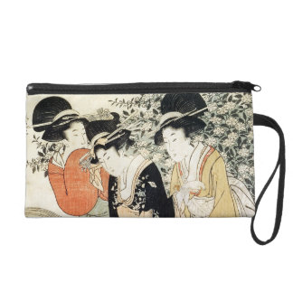 Three girls paddling in a river, from the 'Fashion Wristlet