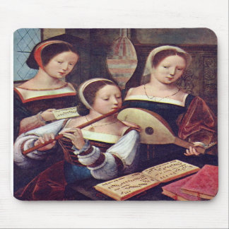 Three Girls Playing Music Mousepad