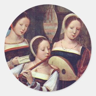Three Girls Playing Music Stickers