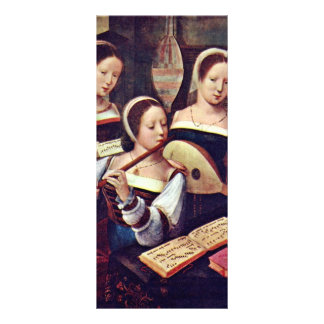 Three Girls Playing Musical Instruments By Meister Rack Card