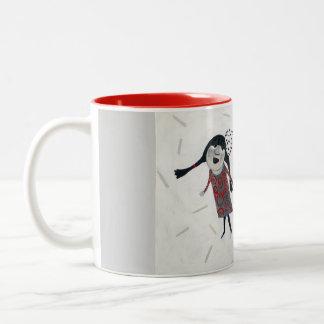 Three Girls Two-Tone Coffee Mug