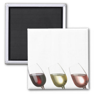 Three Glasses of Wine Custom Fridge Magnets